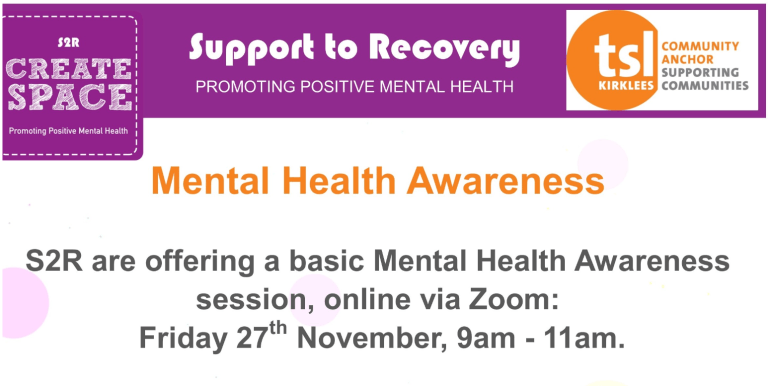 Mental Health Awareness - training from S2R