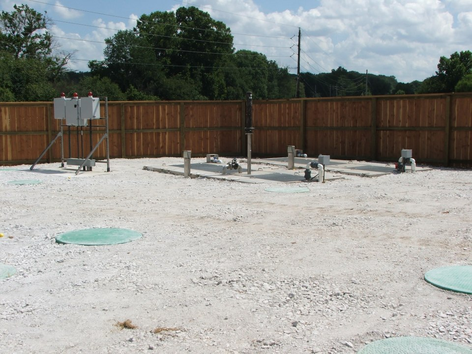 Decentralized wastewater treatment system installed