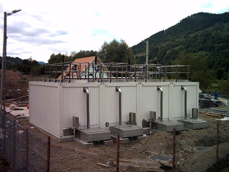 four tank wastewater system near completion