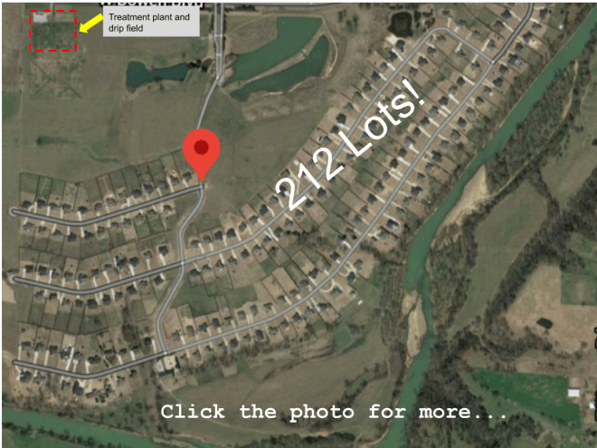 Satellite view of a subdivision