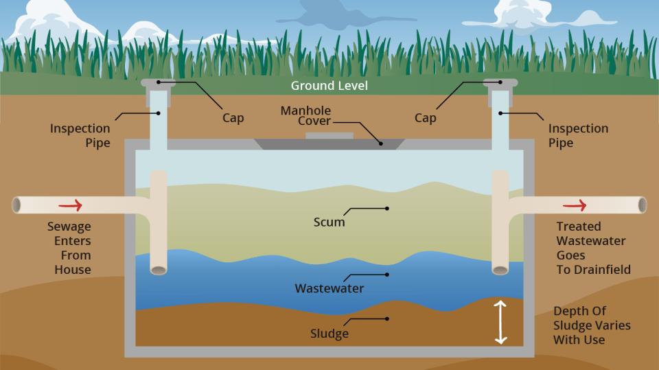 septic tank cutaway