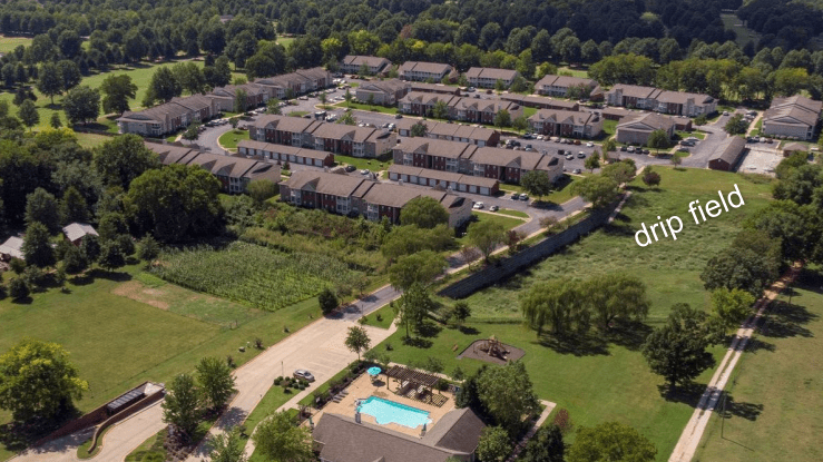 192-unit apartment complex outside of sanitary sewer using a wastewater treatment package plant