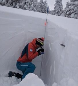 aaron in snowpit