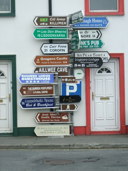 Multiple signposts, confusing