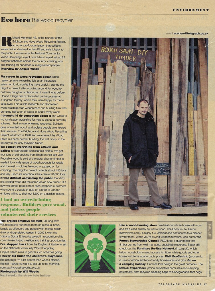 Richard Mehmed is featured on the Eco Hero page of the Telegraph magazine