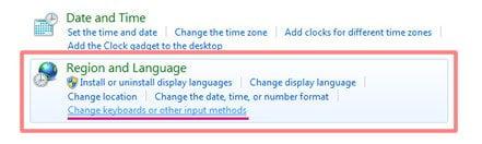 Alterar teclado e idioma