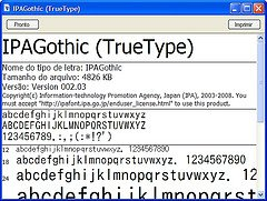 janela visualizar fontes japonesas - Como usar letras japonesas sem instalar