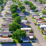 mobile home park aerial view