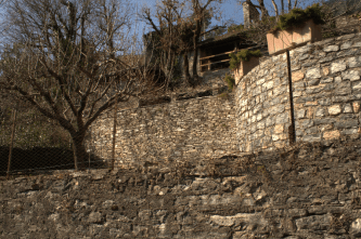 Stone walled terraces