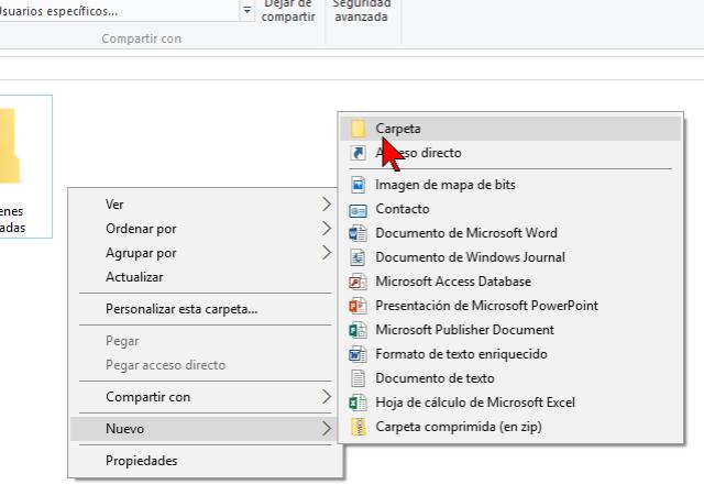 Cómo crear una carpeta en Windows