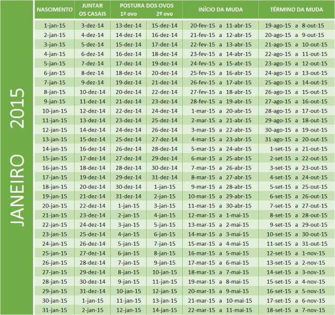 Tabela de jan 2015