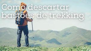 Como descartar bastões de trekking, trilha