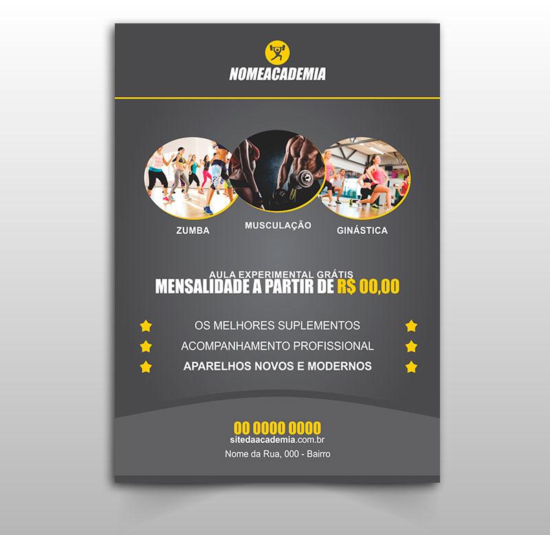 Panfleto para Academia Modelo 02