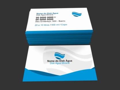 Cartão de visita água mineral modelo 01