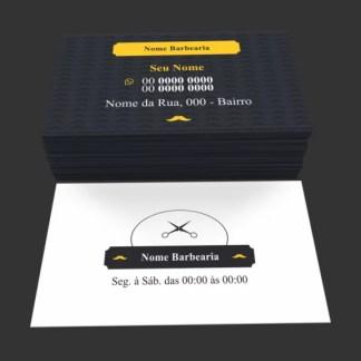 Cartão de Visita Barbearia Modelo 01