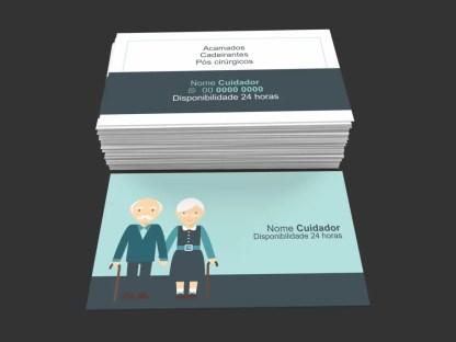 Cartão de Visita Cuidador de Idosos Modelo 01