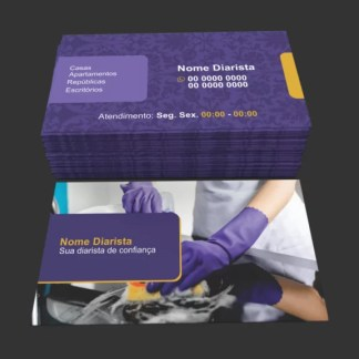 Cartão de Visita Diarista Modelo 02