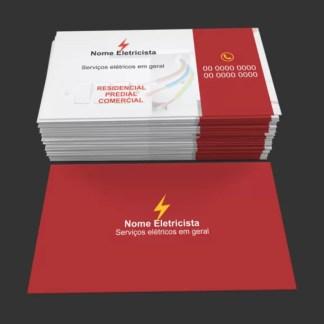 Cartão de Visita Eletricista Modelo 02