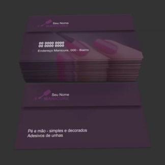 Cartão de Visita Manicure e Pedicure Modelo 02