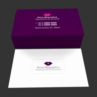 Cartão de Visita Maquiadora Modelo 02