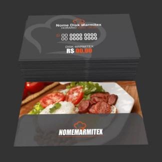 Cartão de Visita Restaurante e Marmitex Modelo 02