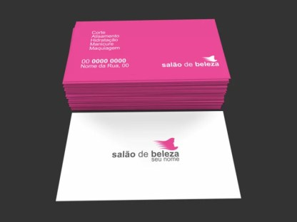 Cartão de Visita Salão de Beleza Modelo 02