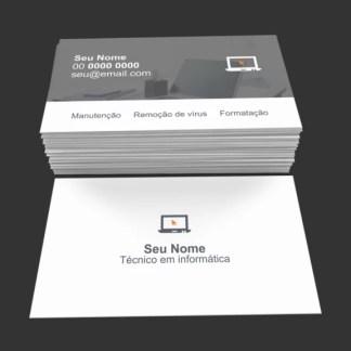 Cartão de Visita Técnico em Informática Modelo 02