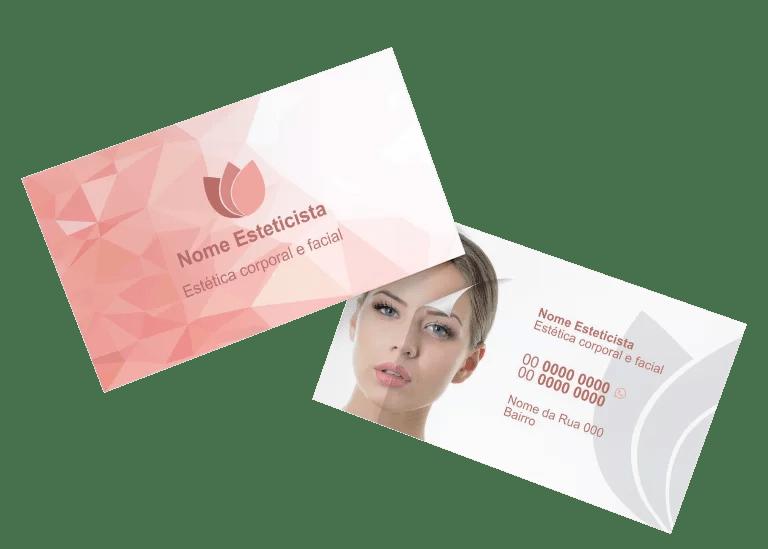 Cartão de Visita Esteticista - modelo 03