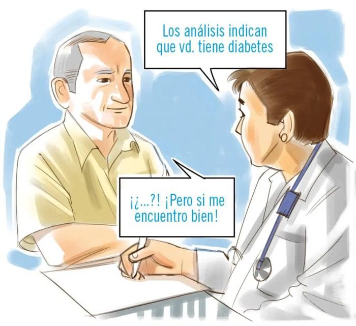 Algunos pacientes pueden no presentar sintomas previos: diabetes.bayer.punto.es