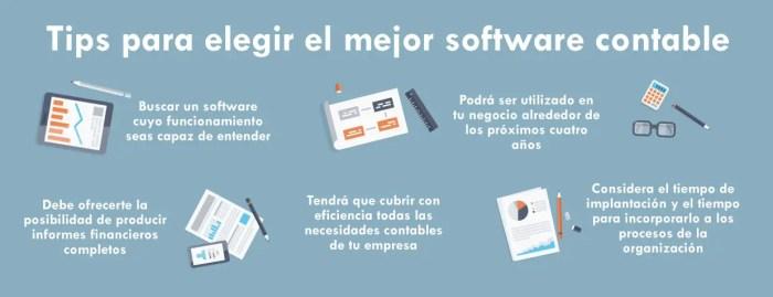 Elegir un buen software contable
