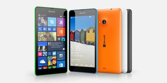marcas de celulares, Microsoft