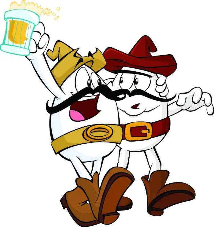 Los Huevos Rancheros, otros de los personajes más conocidos de Huevocartoon.