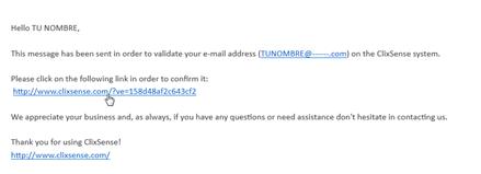 verifica tu correo clixsense