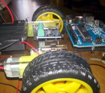 Vista general kit robot Arduino