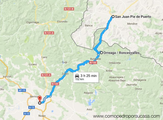 ruta-pamplona-roncesvalles-saint-jean-pie-de-port
