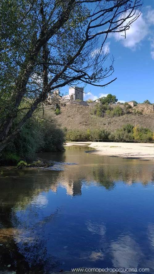 reflejo castillo escalona toledo rio alberche