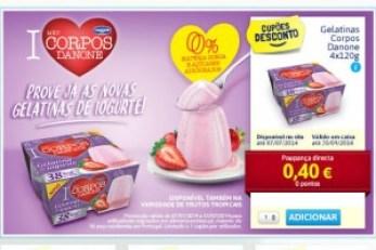Gelatinas de Iogurte Corpos Danone Vale Desc