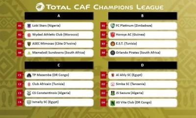 Champions League, CAF Champions League : tirage au sort de la phase des groupes