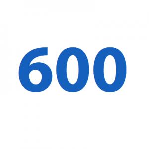 como se escribe 600