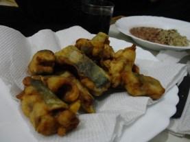 Peixe Frito com Arroz 7 Grãos e Feijão
