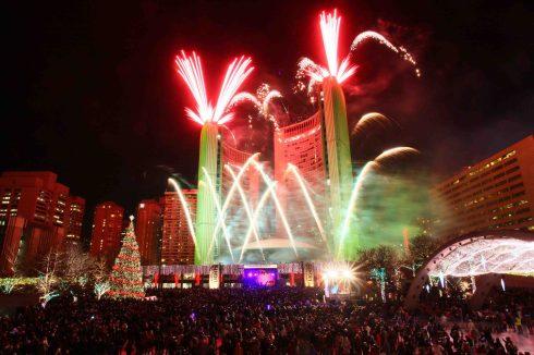 Cavalcade of Light e Fogos - Natal em Toronto, Canadá