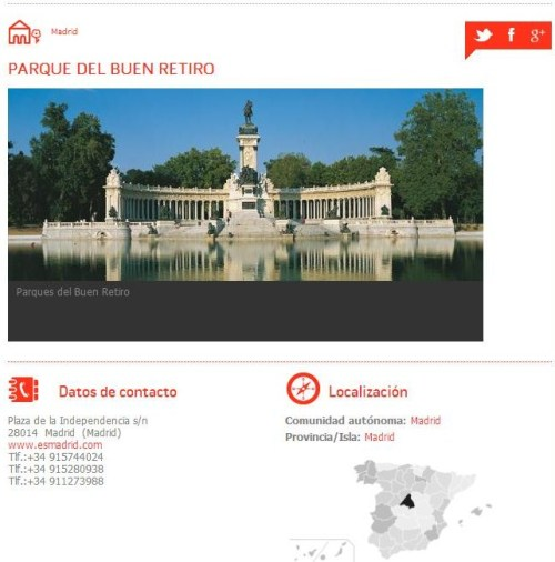 Espanha, Jardins Históricos, Parque del Buen Retiro - Reprodução do Site2