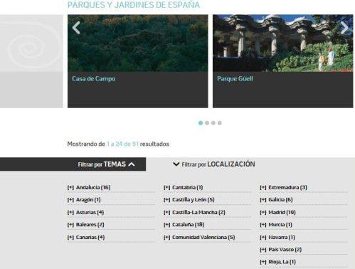 Espanha, Jardins Históricos - Reprodução do Site