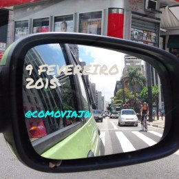 O céu da Paulista pelo retrovisor