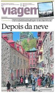 Québec - Cover Estado de S. Paulo travel section