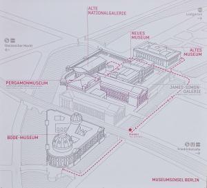 Mapa da Ilha de Museus Berlim Viagem Alemanha - Foto Nathalia Molina @ComoViaja
