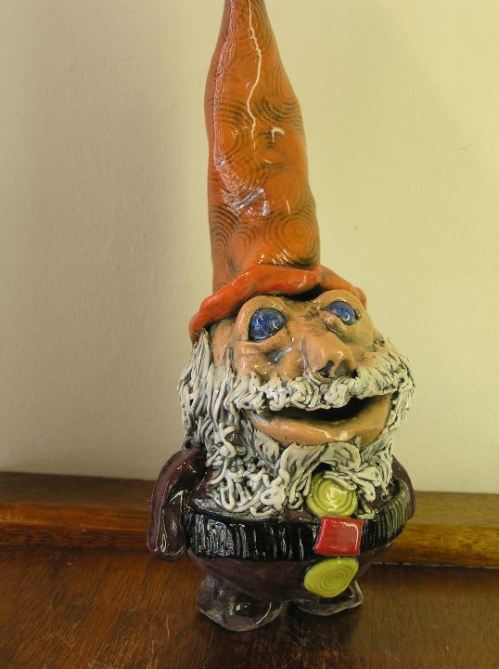 Pottery gnome by Shelley Combs
