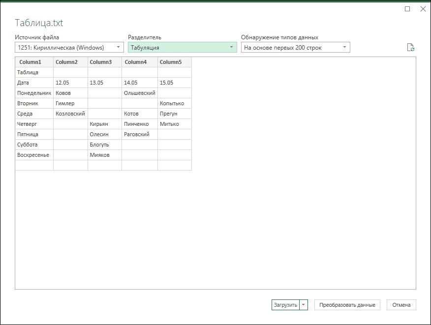 Сөзден Excel-ге дейінгі кестелер импорттаңыз