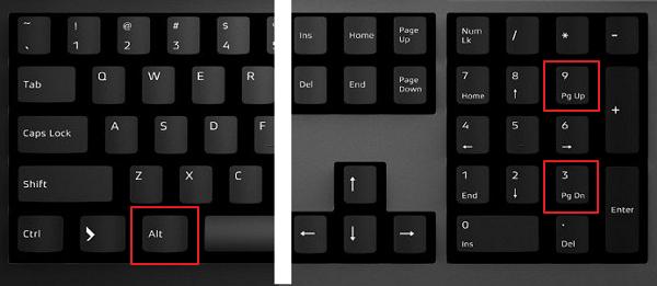 în cazul în care butonul de opțiune de pe tastatură