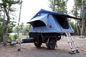 Roof Top Tent with Jeep Style Trailer